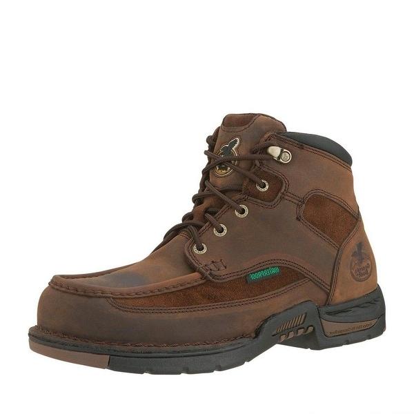 """Georgia Boot Work Mens 6"""" Athens Steel Toe Waterproof Brown"""
