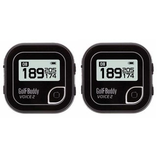 Golf Buddy Voice 2 GPS/Rangefinder (Black/Pack of 2)