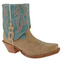 Twisted X Boots Women's WSOC002 Dusty Tan/Ocean Blue Leather