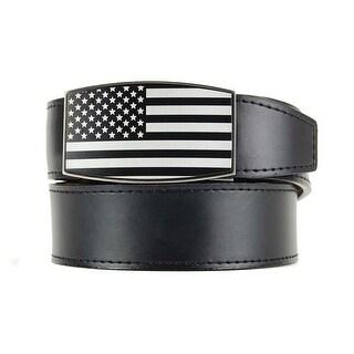 Nexbelt Black Series Aston Black USA Etched with Smooth Black Strap Belt