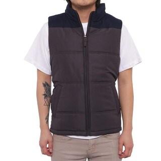 Weatherproof Colorblocked Puffer Vest Vest Asphalt