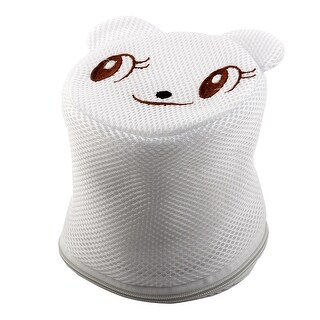 Home Polyester Bear Shape Clothes Underwear Lingerie Holder Washing Cleaning Bag