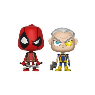 Vynl: Marvel Comics- Deadpool & Cable Bobblehead Figures