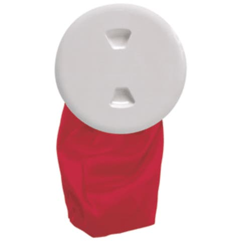 """7"""" White and Red Stowaway Deck Plate and Bag"""