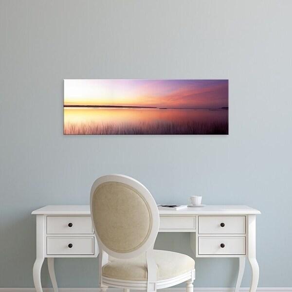 Easy Art Prints Panoramic Images's 'Sunrise, Lake Michigan, Door County, Wisconsin, USA' Premium Canvas Art