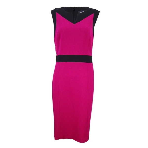 b98abae6e7b Shop Nine West Women s Stretch Colorblocked Sheath Dress - On Sale - Free  Shipping Today - Overstock.com - 20551720