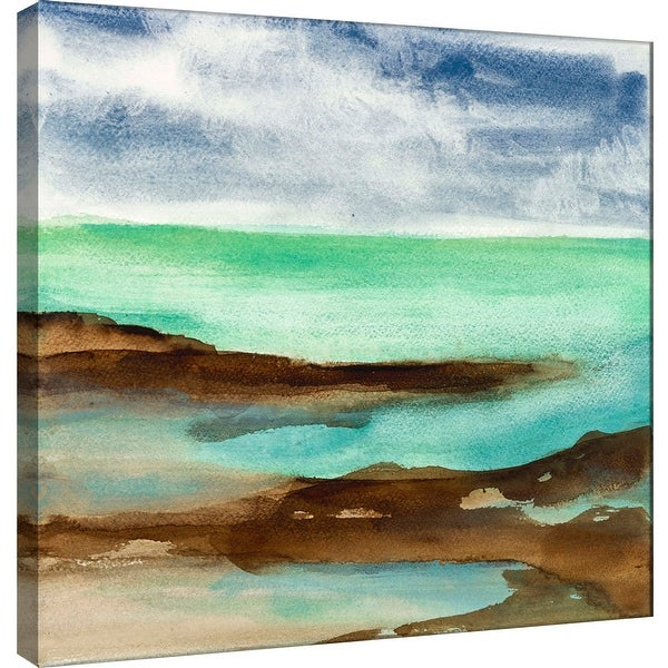 "PTM Images 9-100975 PTM Canvas Collection 12"" x 12"" - ""Shore III"" Giclee Coastlines Art Print on Canvas"