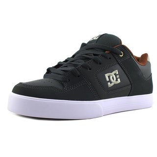 DC Shoes Pure Men Round Toe Leather Gray Skate Shoe