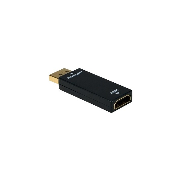 QVS DPHD-MF QVS Audio/Video Adapter - 1 x DisplayPort Male Digital Video - 1 x HDMI Female Digital Audio/Video