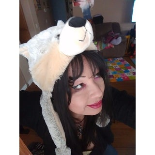 Puzzled Super Soft Plush Wolf Hat