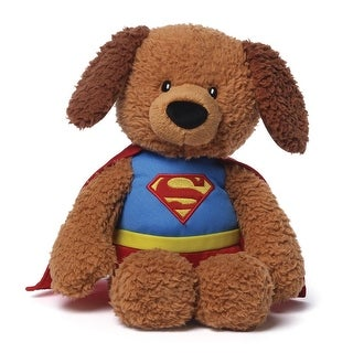 """12"""" Soft and Silky Plush Griffin the Dog """"Superman"""" Children's Stuffed Animal Toy - Brown"""