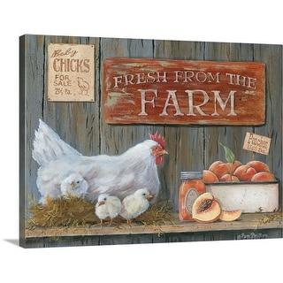 """Fresh from the Farm"" Canvas Wall Art"