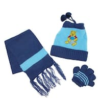CTM® Kids' Character Bear Hat Scarf and Gloves on a String Set