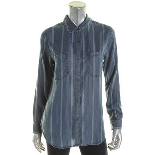 Rails Womens Button-Down Top Chambray Striped