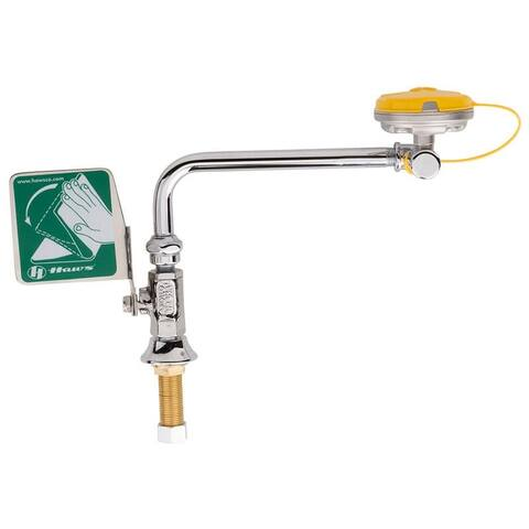 Haws 7612LH Swing-away eyewash designed to be mounted on left side of sink. - Stainless Steel
