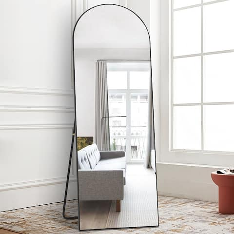 Dressing Mirror Arched Wall Mirror Standing, Leaning Hanging