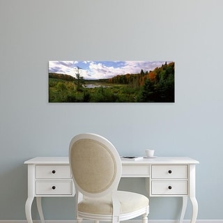 Easy Art Prints Panoramic Images's 'Stream flowing, Ottawa National Forest, Upper Peninsula, Michigan' Canvas Art