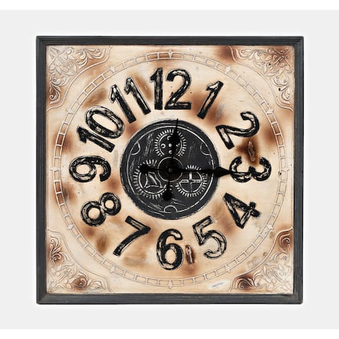 Wayland Jackson Weathered Aluminum and Grey 24-inch Clock by Jofran