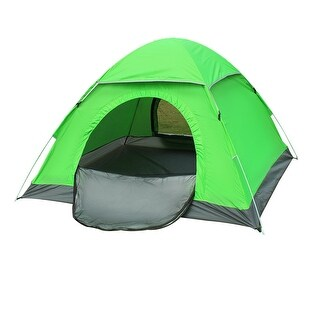Backpacking Water Resistant Automatic Camping Tent 3-4 Person Fluorescence Green