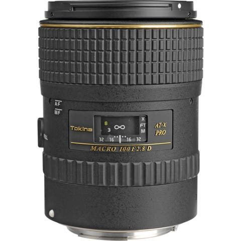 Tokina 100mm f/2.8 AT-X M100 AF Pro D Macro Autofocus Lens for Canon EOS - Black