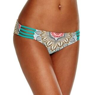 Red Carter Womens Strappy Bikini Swim Bottom Separates
