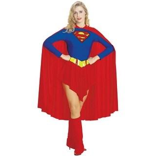 Rubies Superman Supergirl Adult Costume - Blue/Red