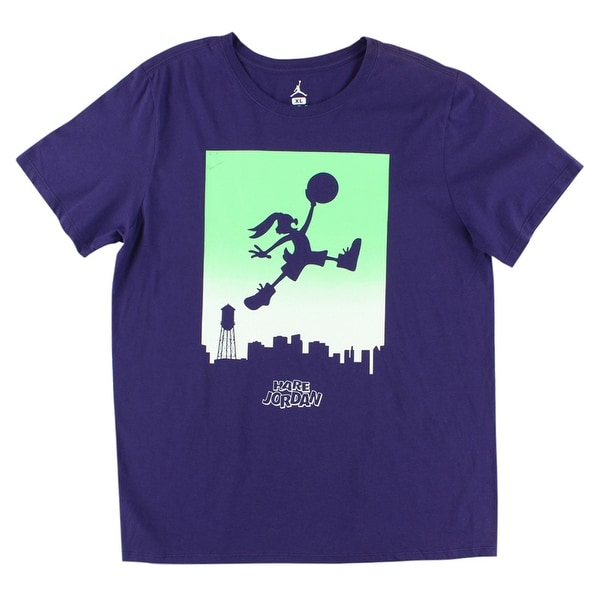 90d309db9dee Shop Jordan Mens Jumpbunny WB Skyline T Shirt Purple - purple green white -  xL - Free Shipping On Orders Over  45 - Overstock - 22613232