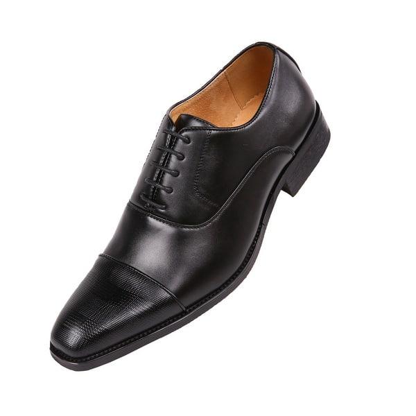 f0953f4504e8 Shop Amali Men's Smooth Cap Toe Oxford Dress Shoes - On Sale - Free ...