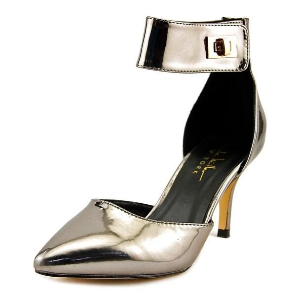 Nicole Miller Brandy Women Pointed Toe Synthetic Slingback Heel