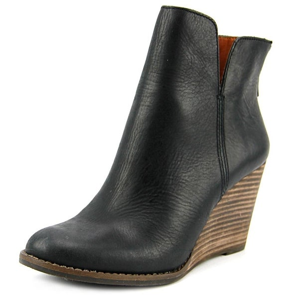 Lucky Brand Yolene Women Round Toe Leather Bootie