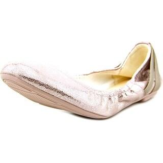 Cole Haan Manhattan Plie.Bal Women Round Toe Leather Ballet Flats
