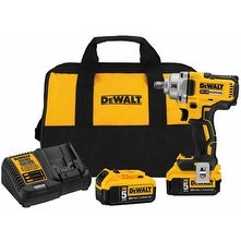 DeWalt DWDCF894HP2 0.5 in. & 20V Max Compact High Torque Impact Wrench Kit