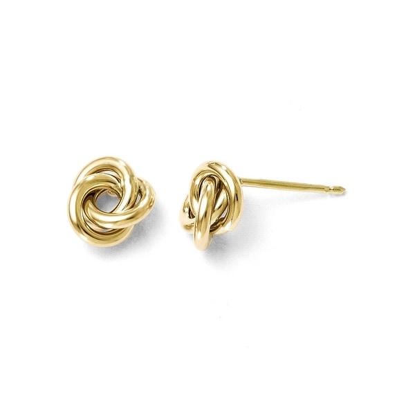 Italian 10k Gold Polished Post Earrings
