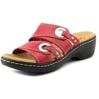 Clarks Hayla Acadia Women Round Toe Leather Red Clogs