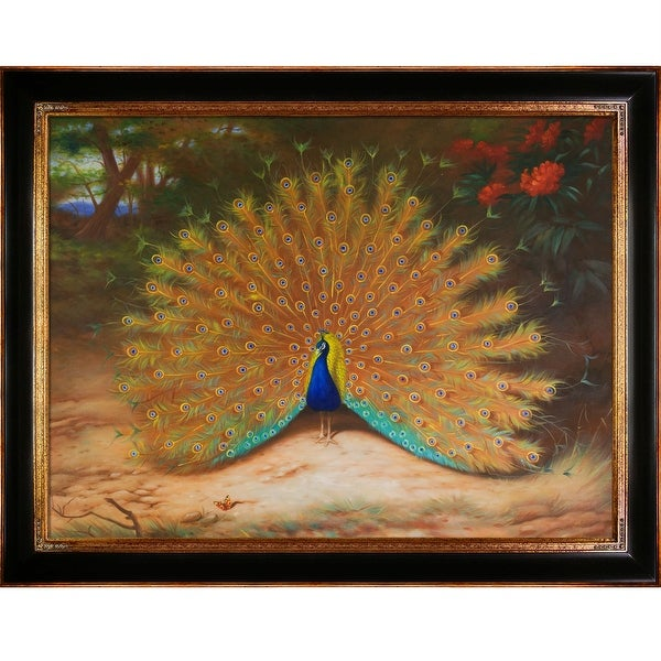 Peacock and Peacock Butterfly, 1917 by Archibald Thorburn Framed Hand Painted Oil on Canvas