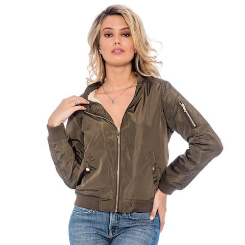 True Rock Women's Bomber Full Zip Jacket