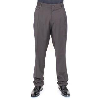 Dolce & Gabbana Brown Wool Stretch Pleated Pants - it54-xxl