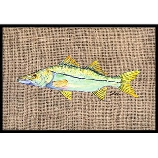 Carolines Treasures 8772MAT 18 x 27 in. Fish-Snook Indoor & Outdoor Doormat