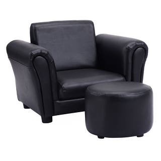 Costway Black Kids Sofa Armrest Chair Couch Children Toddler Birthday Gift w/ Ottoman|https://ak1.ostkcdn.com/images/products/is/images/direct/b66890503dbe1cd93959e5dcb3b52988bbae7cd2/Costway-Black-Kids-Sofa-Armrest-Chair-Couch-Children-Toddler-Birthday-Gift-w--Ottoman.jpg?impolicy=medium