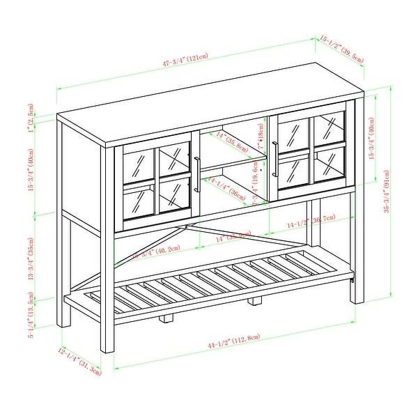 The Gray Barn 48-inch Glass Door Buffet Sideboard