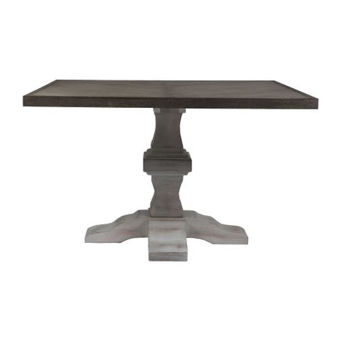 Madison 48-inch Pedestal Dining Table in Washed Mango Finish