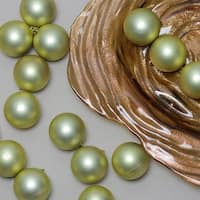"60ct Champagne Gold Shatterproof Matte Christmas Ball Ornaments 2.5"" (60mm)"