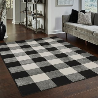 Link to The Gray Barn Told Gait Gingham Check Area Rug Similar Items in Transitional Rugs