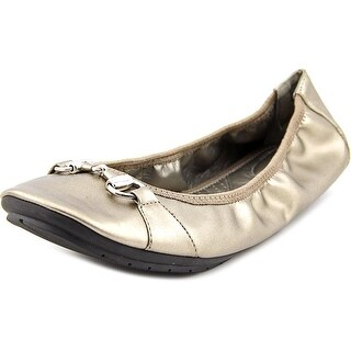 Me Too Limbo Women Round Toe Synthetic Gold Flats