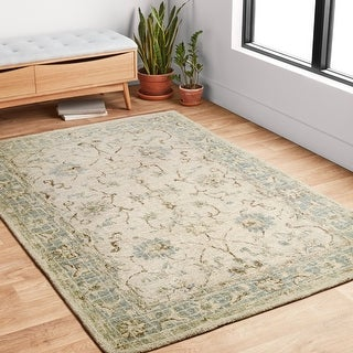Link to Alexander Home Transitional Scroll Hand-hooked 100% Wool Rug Similar Items in French Country Rugs