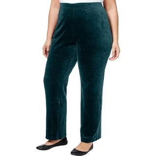 Karen Scott Womens Plus Lounge Pants Velour Pull On