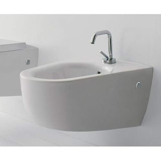 Scarabeo by Nameeks 8049 Tizi Single Handle Wall Mounted Ceramic Bidet - Bowl On