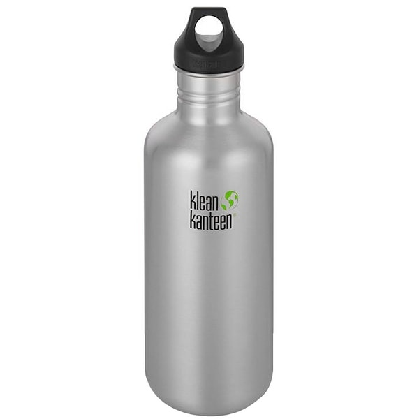 Klean Kanteen Classic 40 oz. Bottle with Loop Cap - Brushed Stainless - Brushed Stainless - 40 oz.
