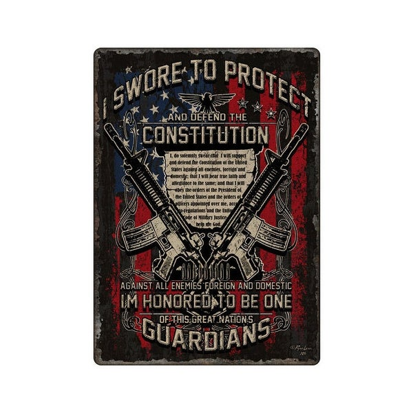 Rivers edge 1437 rivers edge embossed sign 12x 17 guardians of constitution