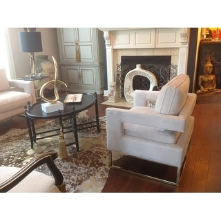 Shop Abbyson Cromwell Velvet Accent Chair On Sale Free